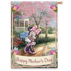 Thomas Kinkade Minnie Mouse Happy Mother's Day Flag