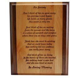 Her Journey Memorial Plaque