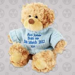 Teddy Bear with Blue Jumper