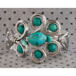 Silver Wire Turquoise Mod Bracelet