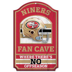 San Francisco 49ers Fan Cave Wood Sign