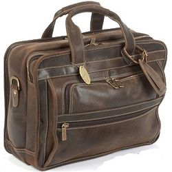 Handmade Distressed Leather Briefcase