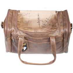 Vintage Aerosquadron Lamb Leather Duffle Bag