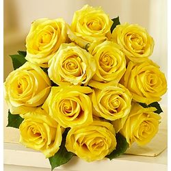 Sunshine Yellow Rose Bouquet