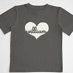 Boy's Script Heart T-Shirt
