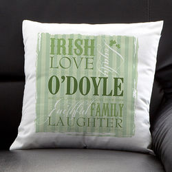 Irish Family Personalized Decorative Throw Pillow