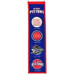 Detroit Pistons Heritage Team Banner