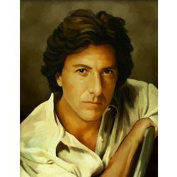 Dustin Hoffman Oil Painting Art Print