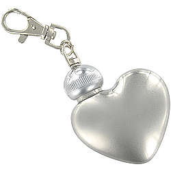 Personalized Stainless Steel Heart Keychain Flask