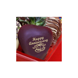 Happy Anniversary Chocolate Strawberry Gift Box