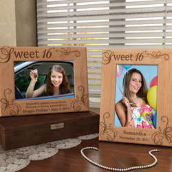 Personalized My Sweet Sixteen Wooden Picture Frame