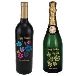 Personalized Mother's Day Wine Bottle