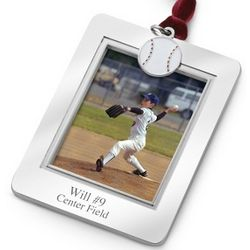 Baseball Charm Photo Frame Ornament
