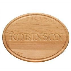 Personalized Oval Wood Cutting Board