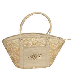 Personalized Structured Eco-Friendly Beach Bag