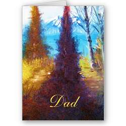 Personalized Mountain View Dad Card
