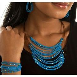 Beaded Multi Wire Jewelry Set
