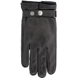 Mens Ferrari Leather and Cashmere Glove