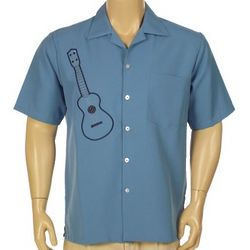 Men's Short Sleeve Guitar Design Shirt