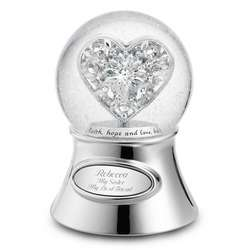 Jeweled Heart Snow Globe