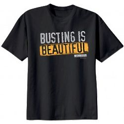 MythBusters Busting is Beautiful Black T-Shirt