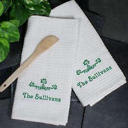 Embroidered Irish Kitchen Towels