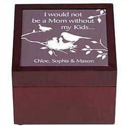 Personalized Nurturing Birds Tile Trinket Box