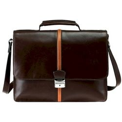 Top Grain Leather Key Lock Designer Briefcase