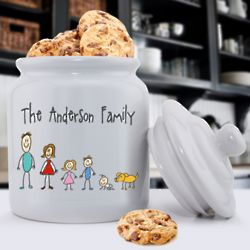 Family Figures Personalized Cookie Jar