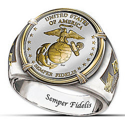 USMC 230th Anniversary Commemorative Proof Ring