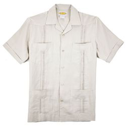 Natural-Pleated Guayabera