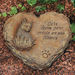 Cat Leave Paw Prints On Our Hearts Stepping Stone