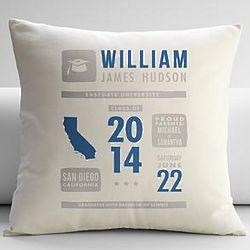 Personalized Graduation Announcement Pillow