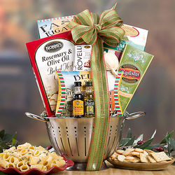 Classic Italian Cooking Assortment in a Colander Gift Basket