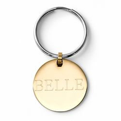 Personalized Large Gold Pet Tag