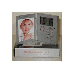 Travel Tech Voice Recording Photo Frame Alarm Clock