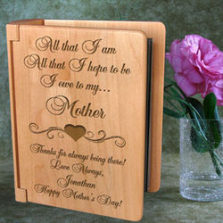 Personalized I Owe Everything To...Wooden Photo Album