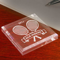 Personalized Tennis Star Paperweight