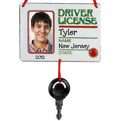 Personalized Driver's License Photo Ornament