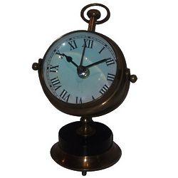 Gimbaled Antique Brass Clock