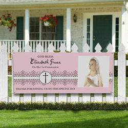 Personalized First Communion Photo Banner