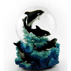 Killer Whale Musical Water Globe