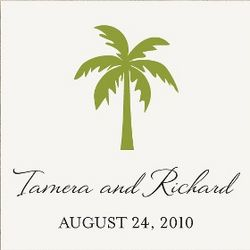 Palm Tree Wedding Favor Tags