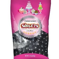 Celebration Sixlets in Black