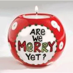 Are We Merry Votive Candle Holder