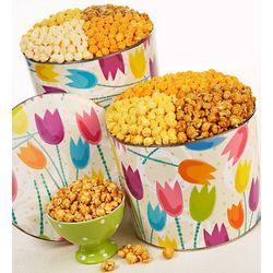 Tulips 3 Flavor Popcorn Tins