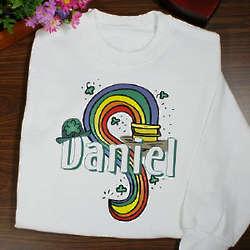 Personalized Luck of the Irish Youth Sweatshirt