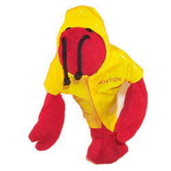 Lobster in Rain Slicker Beanbag Doll
