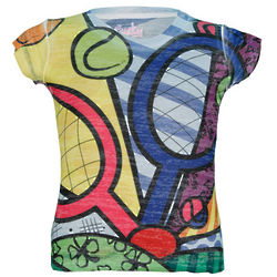 Girl's Lucky In Love Tennis Burnout T-Shirt