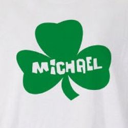 Personalized Shamrock Adult T-Shirt